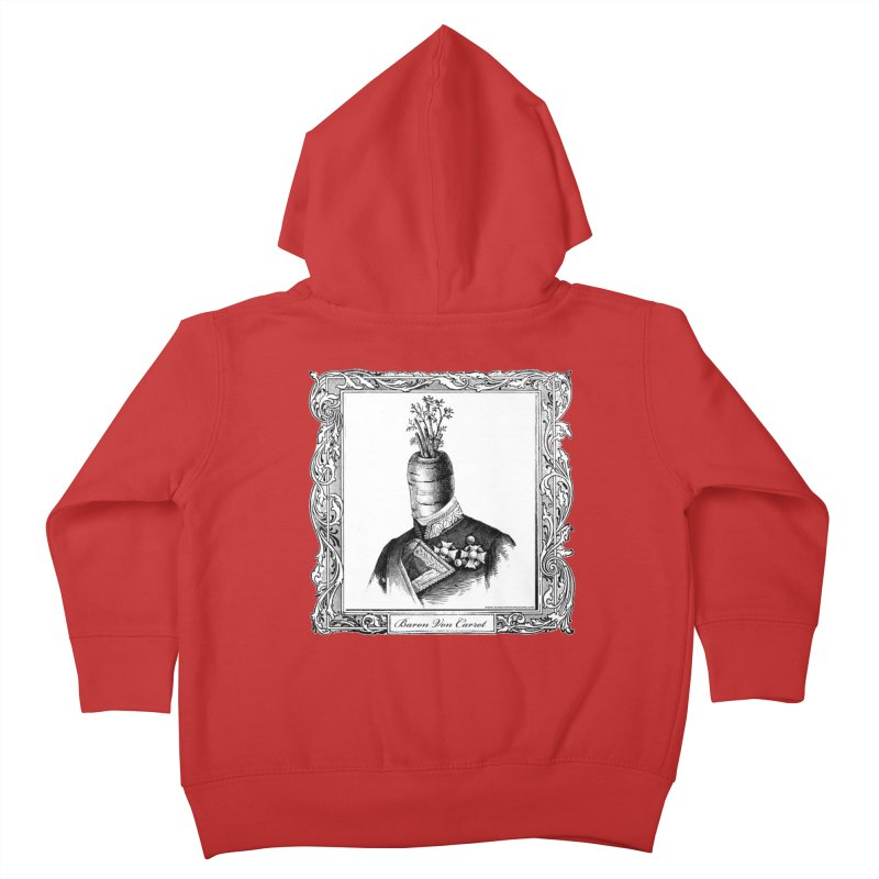 Baron Von Carrot Kids Toddler Zip-Up Hoody by sundaydrivedesigns's Artist Shop