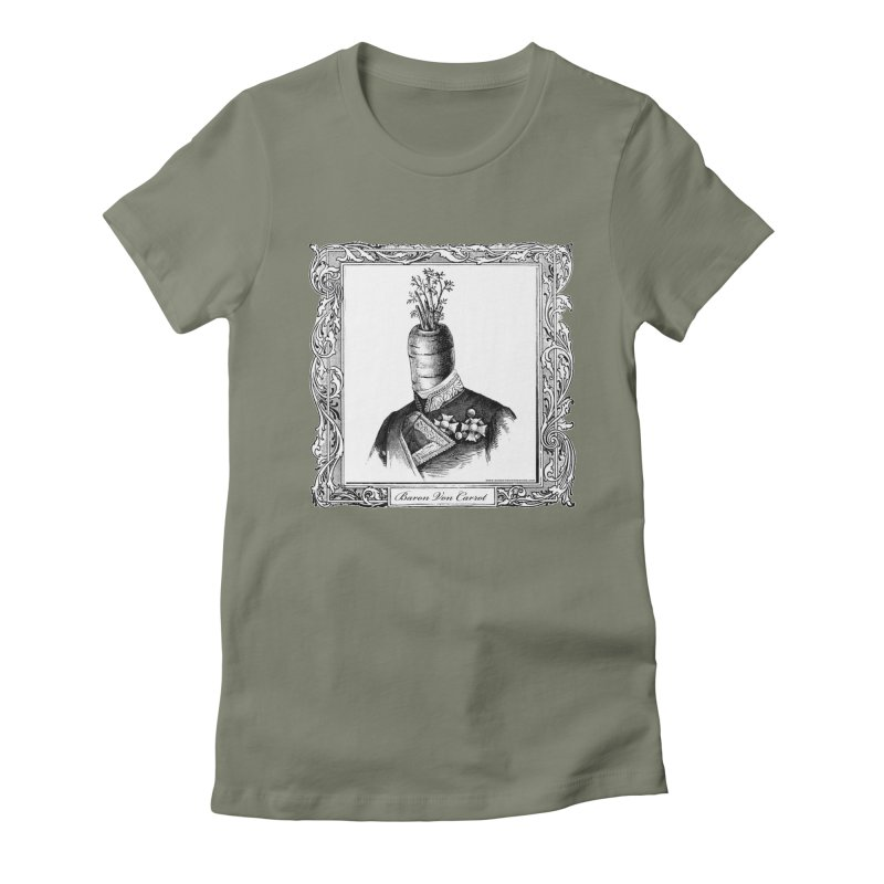 Baron Von Carrot Women's Fitted T-Shirt by sundaydrivedesigns's Artist Shop