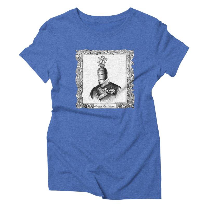 Baron Von Carrot Women's Triblend T-Shirt by sundaydrivedesigns's Artist Shop
