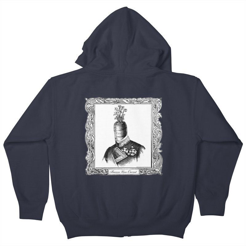 Baron Von Carrot Kids Zip-Up Hoody by sundaydrivedesigns's Artist Shop