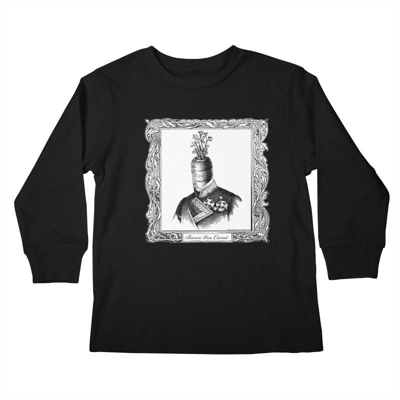 Baron Von Carrot Kids Longsleeve T-Shirt by sundaydrivedesigns's Artist Shop