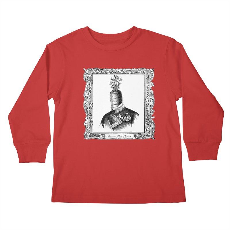 Baron Von Carrot Kids Longsleeve T-Shirt by sundaydrivedesigns's Artist Shop