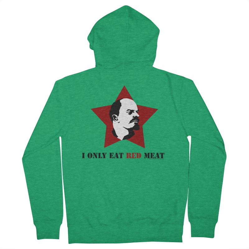 I Only Eat Red Meat Men's French Terry Zip-Up Hoody by sundaydrivedesigns's Artist Shop