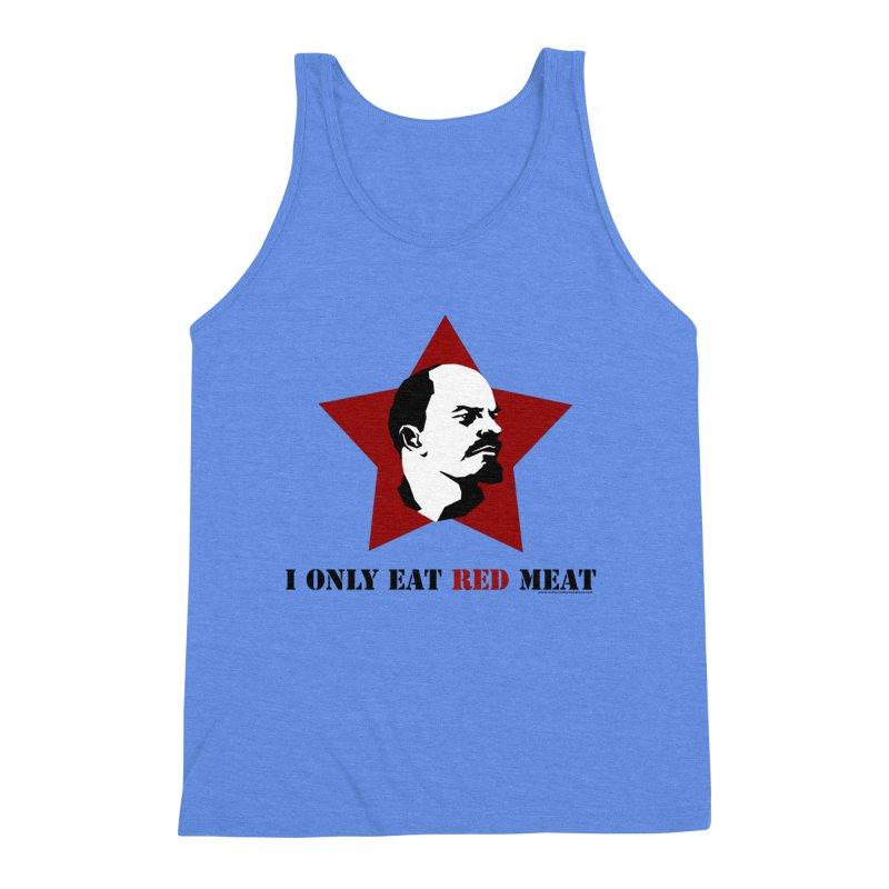 I Only Eat Red Meat Men's Triblend Tank by sundaydrivedesigns's Artist Shop