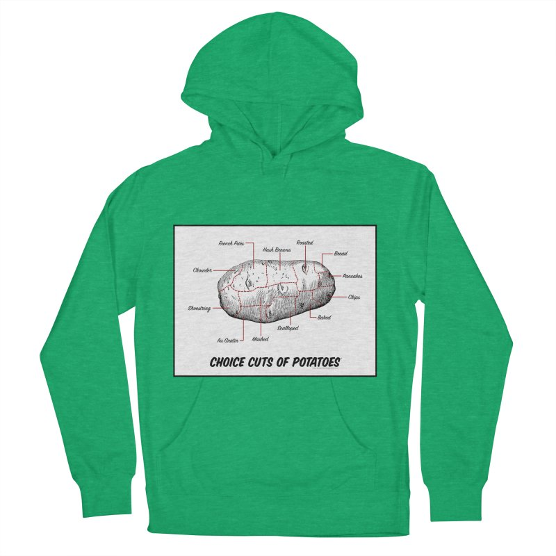 Choice Cuts of Potato Butcher Chart Women's Pullover Hoody by sundaydrivedesigns's Artist Shop
