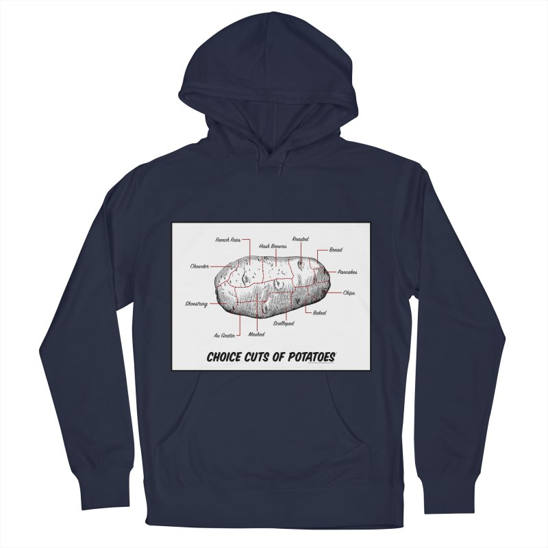Choice Cuts of Potato Butcher Chart Women's French Terry Pullover Hoody by sundaydrivedesigns's Artist Shop