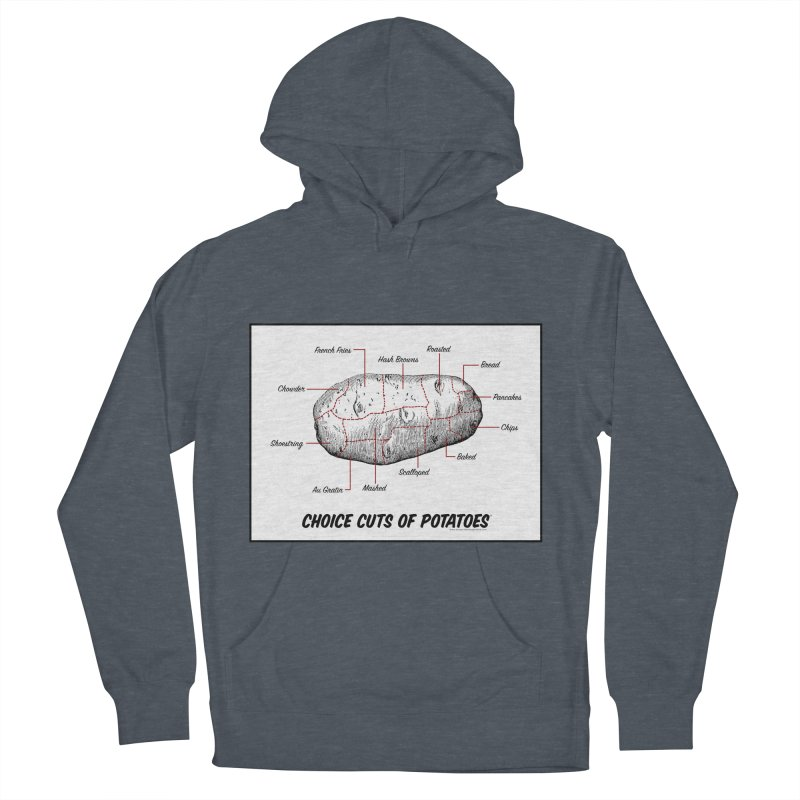 Choice Cuts of Potato Butcher Chart Men's French Terry Pullover Hoody by sundaydrivedesigns's Artist Shop
