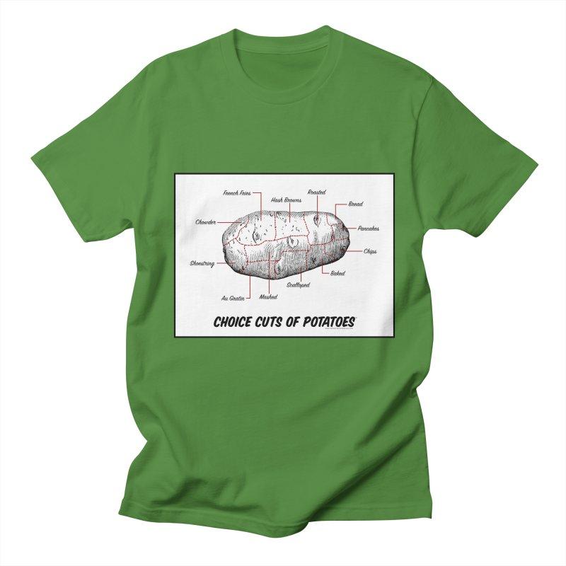 Choice Cuts of Potato Butcher Chart Men's Regular T-Shirt by sundaydrivedesigns's Artist Shop