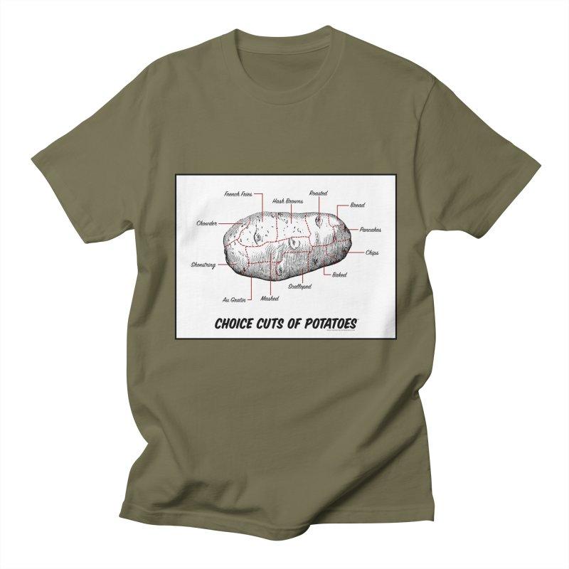 Choice Cuts of Potato Butcher Chart Men's T-Shirt by sundaydrivedesigns's Artist Shop