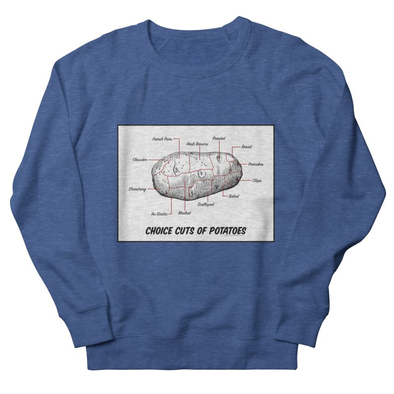 Choice Cuts of Potato Butcher Chart Men's French Terry Sweatshirt by sundaydrivedesigns's Artist Shop
