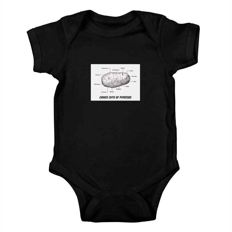 Choice Cuts of Potato Butcher Chart Kids Baby Bodysuit by sundaydrivedesigns's Artist Shop