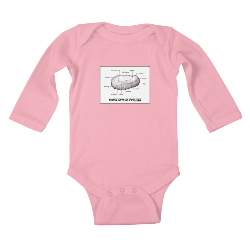 Choice Cuts of Potato Butcher Chart Kids Baby Longsleeve Bodysuit by sundaydrivedesigns's Artist Shop