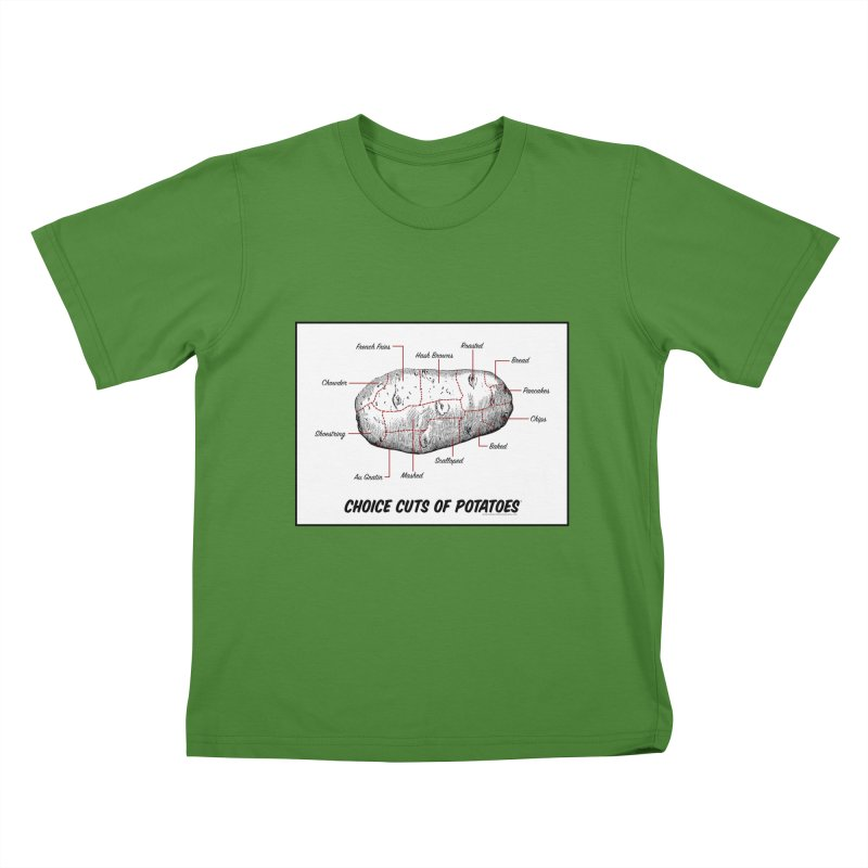 Choice Cuts of Potato Butcher Chart Kids T-Shirt by sundaydrivedesigns's Artist Shop