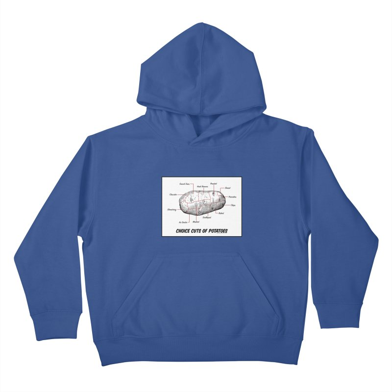 Choice Cuts of Potato Butcher Chart Kids Pullover Hoody by sundaydrivedesigns's Artist Shop