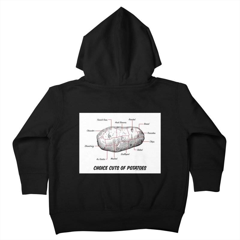Choice Cuts of Potato Butcher Chart Kids Toddler Zip-Up Hoody by sundaydrivedesigns's Artist Shop