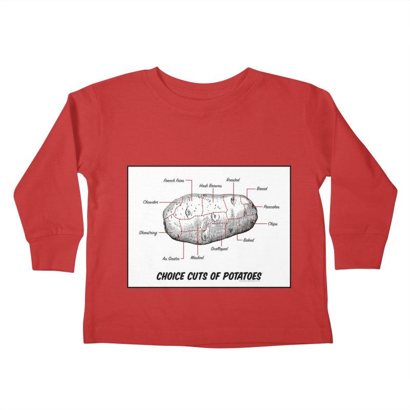 Choice Cuts of Potato Butcher Chart Kids Toddler Longsleeve T-Shirt by sundaydrivedesigns's Artist Shop