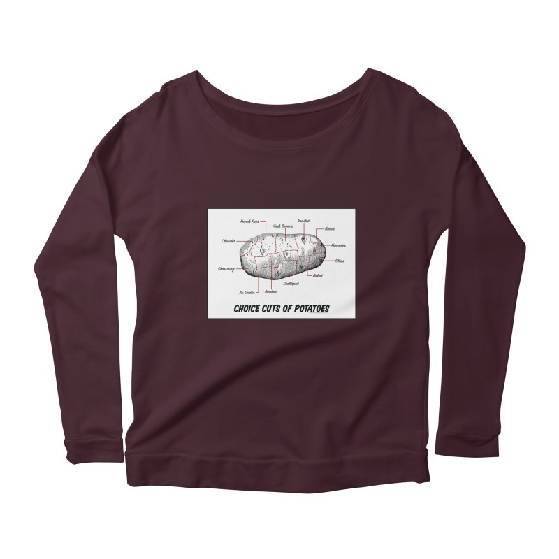 Choice Cuts of Potato Butcher Chart Women's Longsleeve T-Shirt by sundaydrivedesigns's Artist Shop