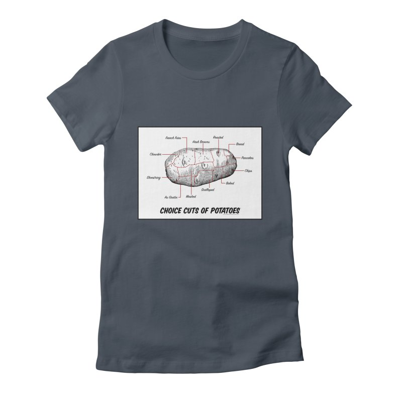 Choice Cuts of Potato Butcher Chart Women's T-Shirt by sundaydrivedesigns's Artist Shop