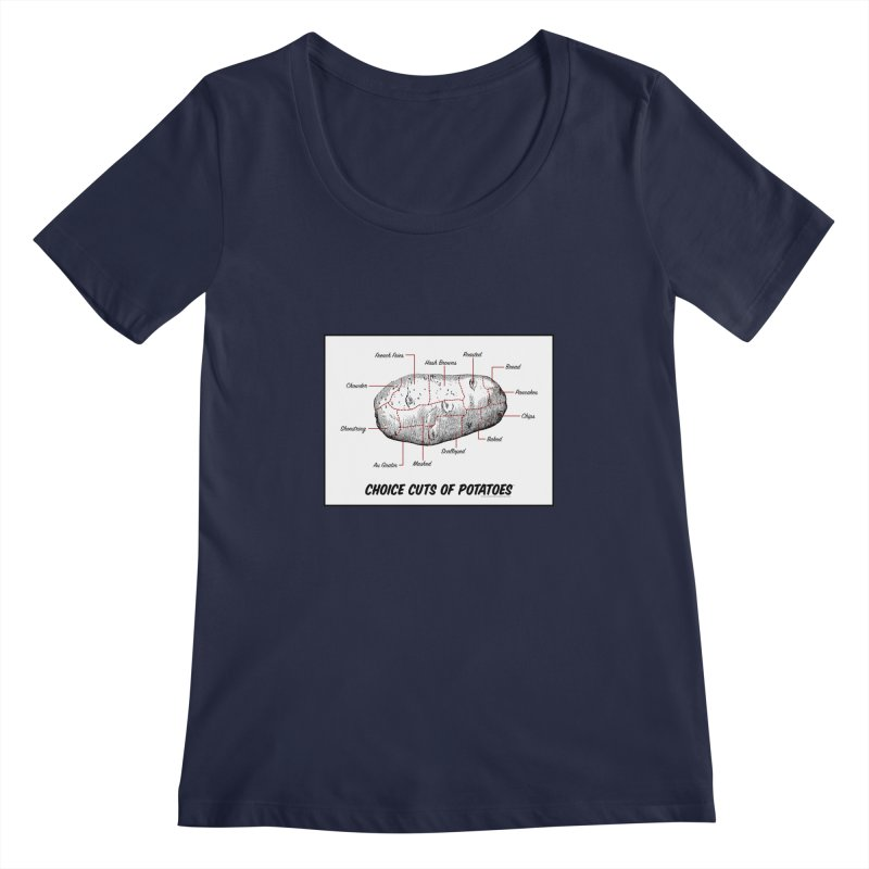 Choice Cuts of Potato Butcher Chart Women's Regular Scoop Neck by sundaydrivedesigns's Artist Shop