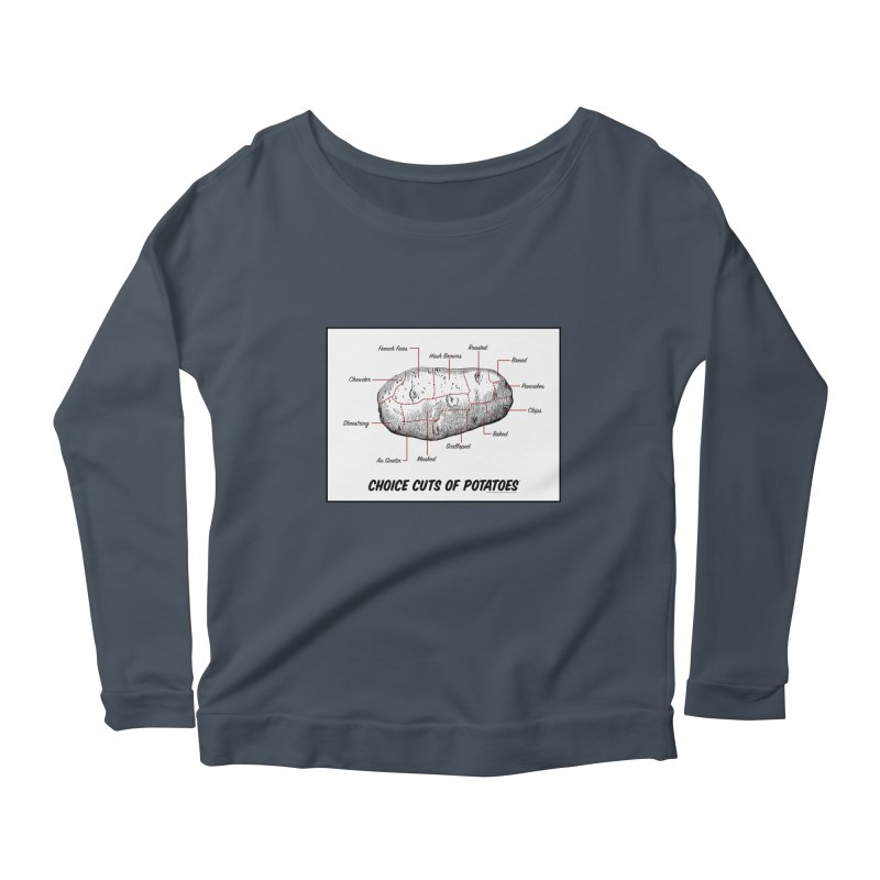 Choice Cuts of Potato Butcher Chart Women's Scoop Neck Longsleeve T-Shirt by sundaydrivedesigns's Artist Shop