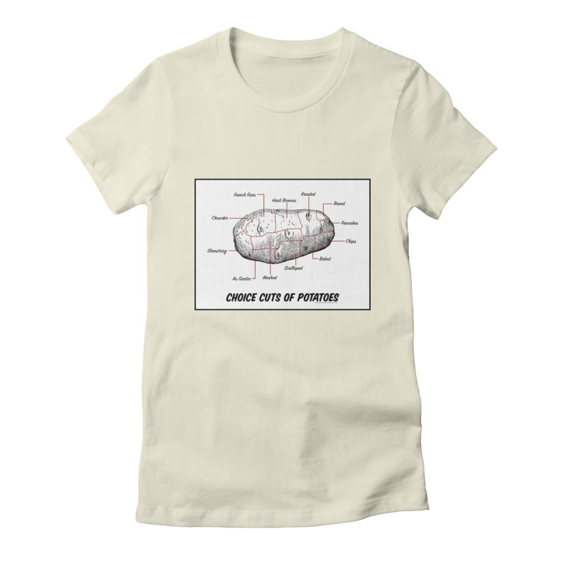 Choice Cuts of Potato Butcher Chart Women's Fitted T-Shirt by sundaydrivedesigns's Artist Shop