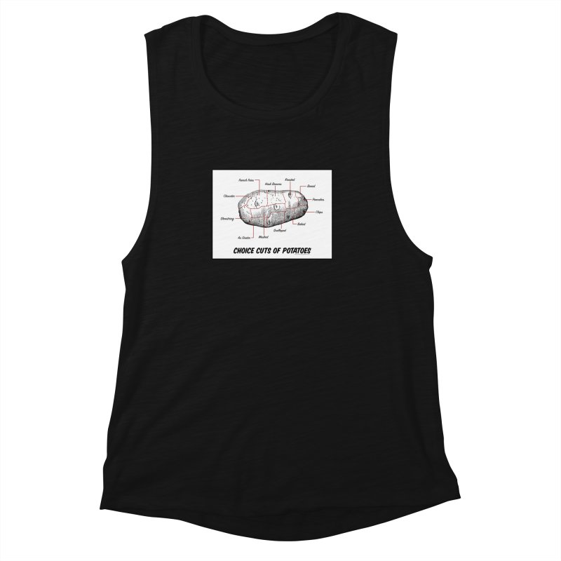 Choice Cuts of Potato Butcher Chart Women's Muscle Tank by sundaydrivedesigns's Artist Shop