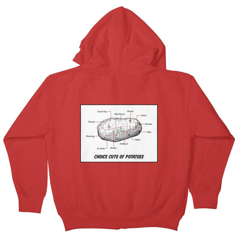 Choice Cuts of Potato Butcher Chart Kids Zip-Up Hoody by sundaydrivedesigns's Artist Shop