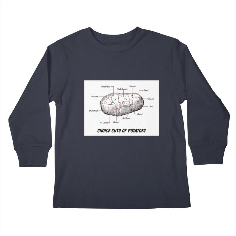 Choice Cuts of Potato Butcher Chart Kids Longsleeve T-Shirt by sundaydrivedesigns's Artist Shop