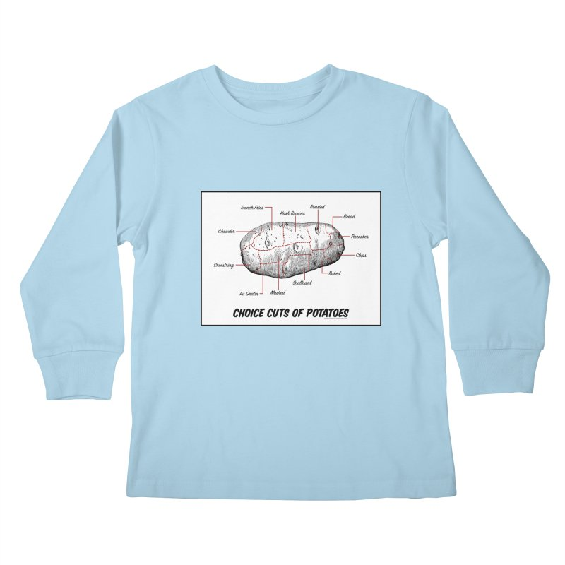 Choice Cuts of Potato Butcher Chart Kids Longsleeve T-Shirt by sundaydrivedesigns's Artist Shop