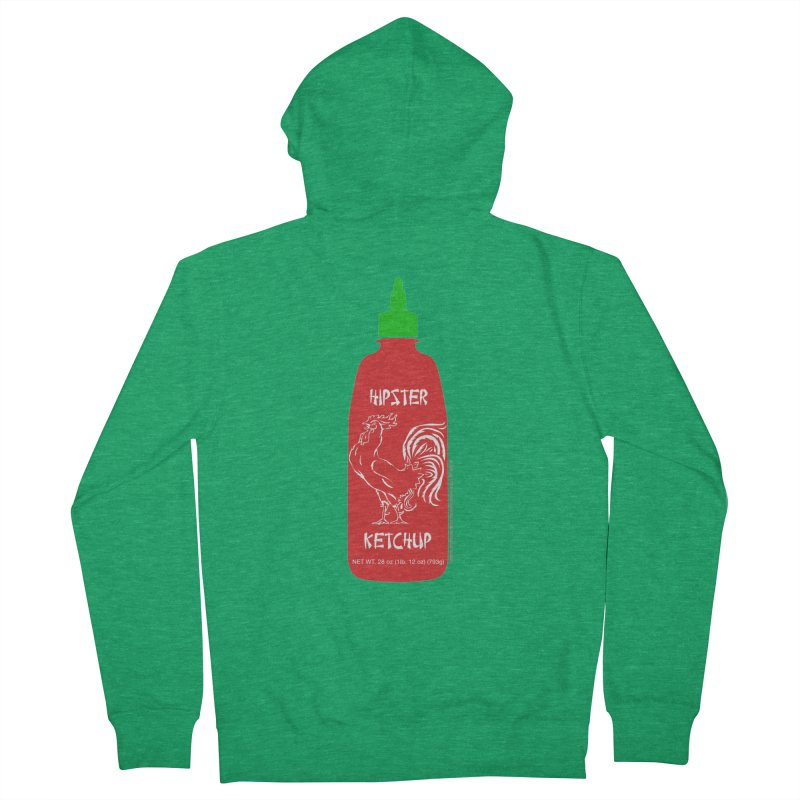 Hipster Ketchup Men's Zip-Up Hoody by sundaydrivedesigns's Artist Shop