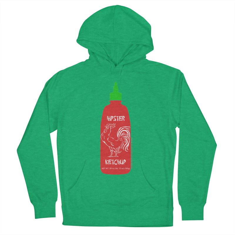 Hipster Ketchup Men's French Terry Pullover Hoody by sundaydrivedesigns's Artist Shop