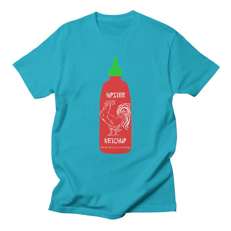 Hipster Ketchup Men's Regular T-Shirt by sundaydrivedesigns's Artist Shop