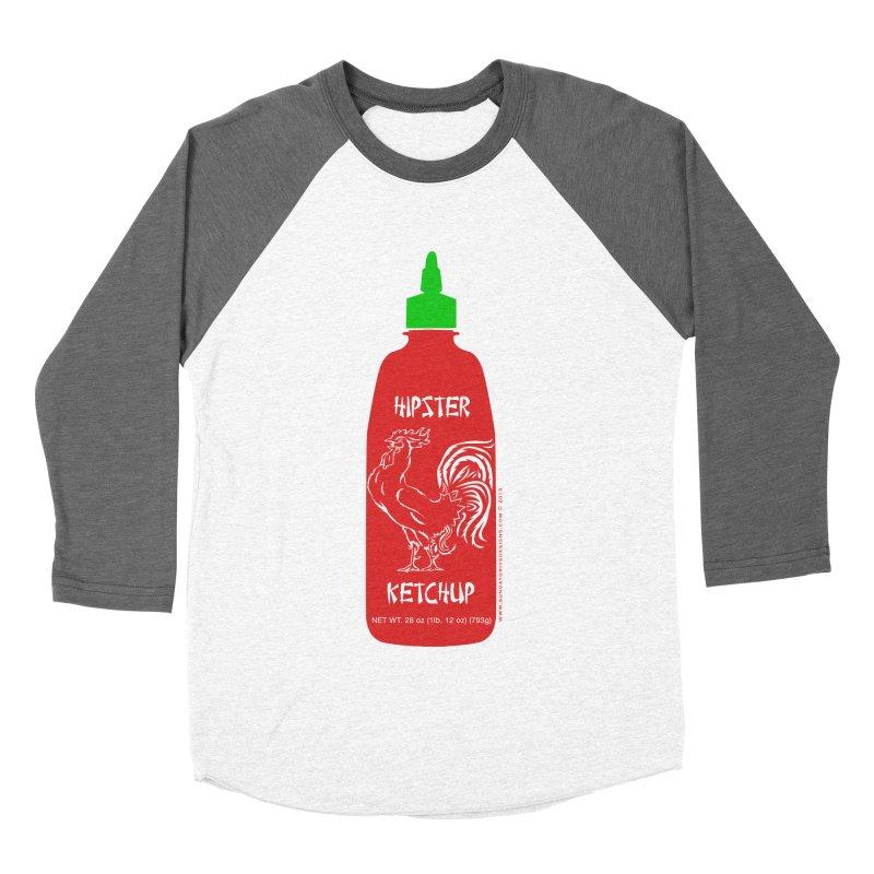 Hipster Ketchup Women's Baseball Triblend Longsleeve T-Shirt by sundaydrivedesigns's Artist Shop