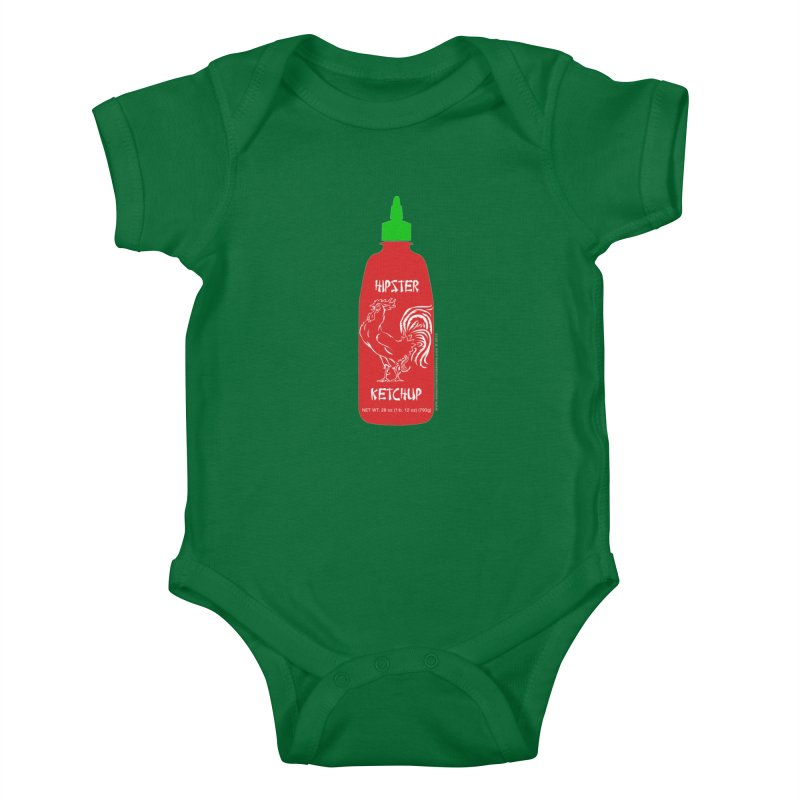 Hipster Ketchup Kids Baby Bodysuit by sundaydrivedesigns's Artist Shop