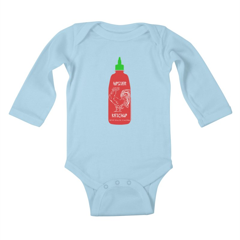 Hipster Ketchup Kids Baby Longsleeve Bodysuit by sundaydrivedesigns's Artist Shop