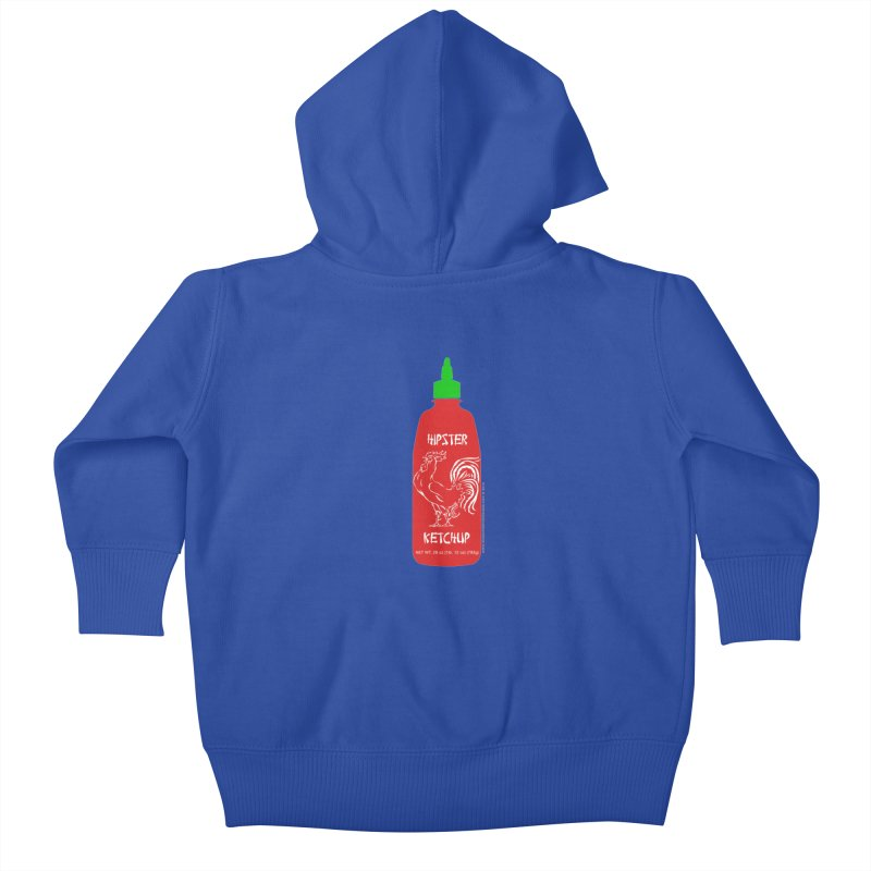Hipster Ketchup Kids Baby Zip-Up Hoody by sundaydrivedesigns's Artist Shop