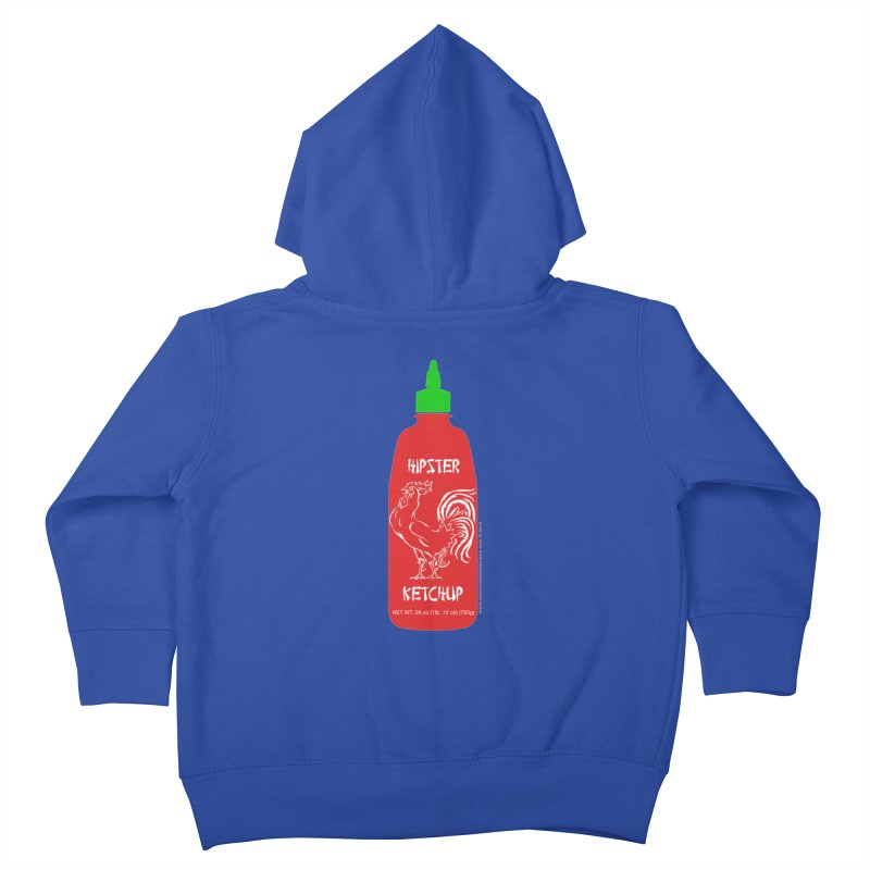 Hipster Ketchup Kids Toddler Zip-Up Hoody by sundaydrivedesigns's Artist Shop