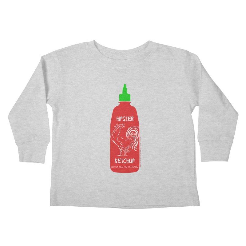 Hipster Ketchup Kids Toddler Longsleeve T-Shirt by sundaydrivedesigns's Artist Shop