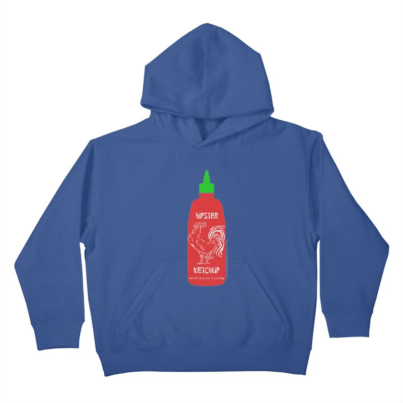 Hipster Ketchup Kids Pullover Hoody by sundaydrivedesigns's Artist Shop
