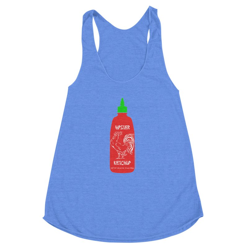 Hipster Ketchup Women's Racerback Triblend Tank by sundaydrivedesigns's Artist Shop