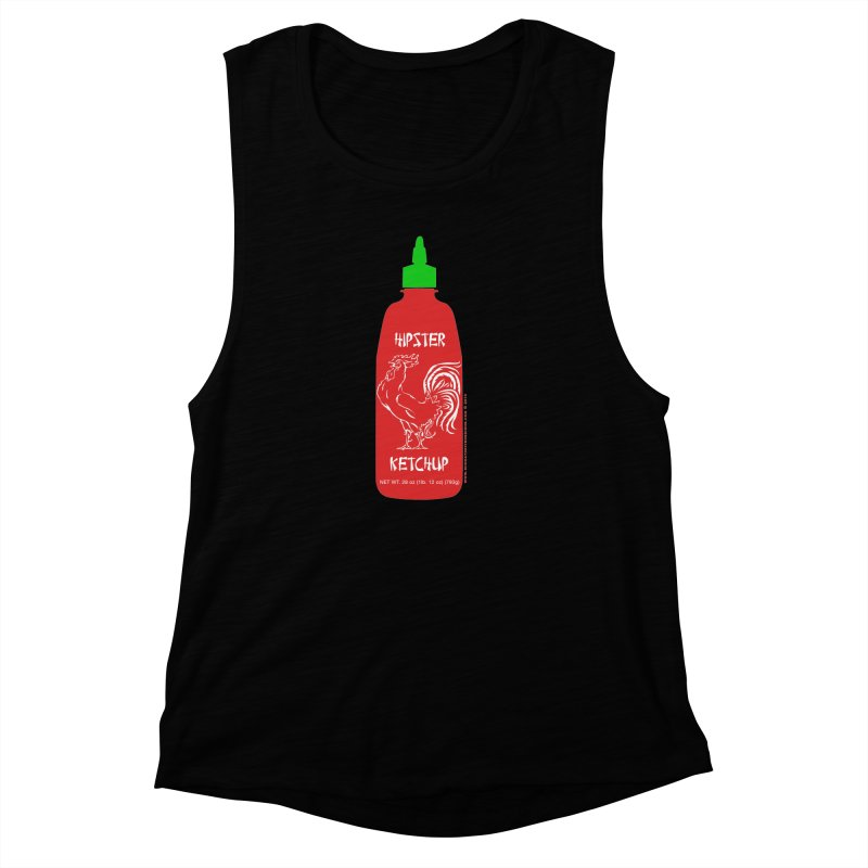 Hipster Ketchup Women's Muscle Tank by sundaydrivedesigns's Artist Shop