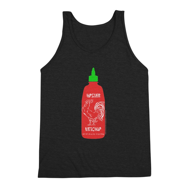 Hipster Ketchup Men's Triblend Tank by sundaydrivedesigns's Artist Shop