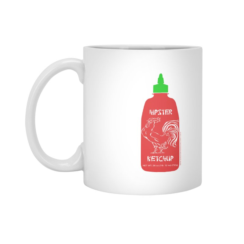 Hipster Ketchup Accessories Mug by sundaydrivedesigns's Artist Shop