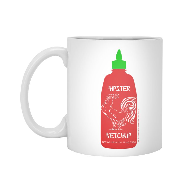Hipster Ketchup Accessories Standard Mug by sundaydrivedesigns's Artist Shop