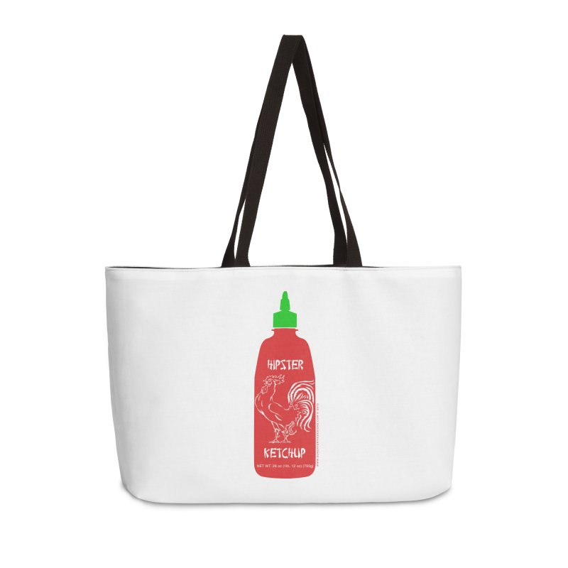 Hipster Ketchup Accessories Weekender Bag Bag by sundaydrivedesigns's Artist Shop