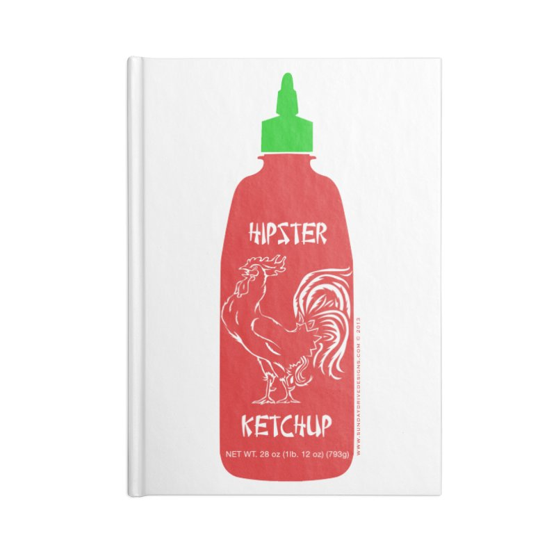 Hipster Ketchup Accessories Lined Journal Notebook by sundaydrivedesigns's Artist Shop