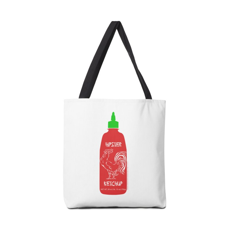Hipster Ketchup Accessories Bag by sundaydrivedesigns's Artist Shop
