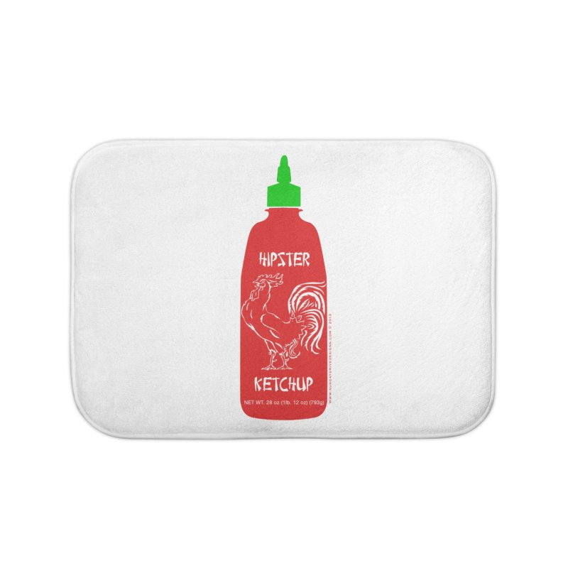Hipster Ketchup Home Bath Mat by sundaydrivedesigns's Artist Shop