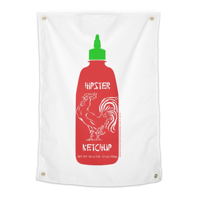 Hipster Ketchup Home Tapestry by sundaydrivedesigns's Artist Shop