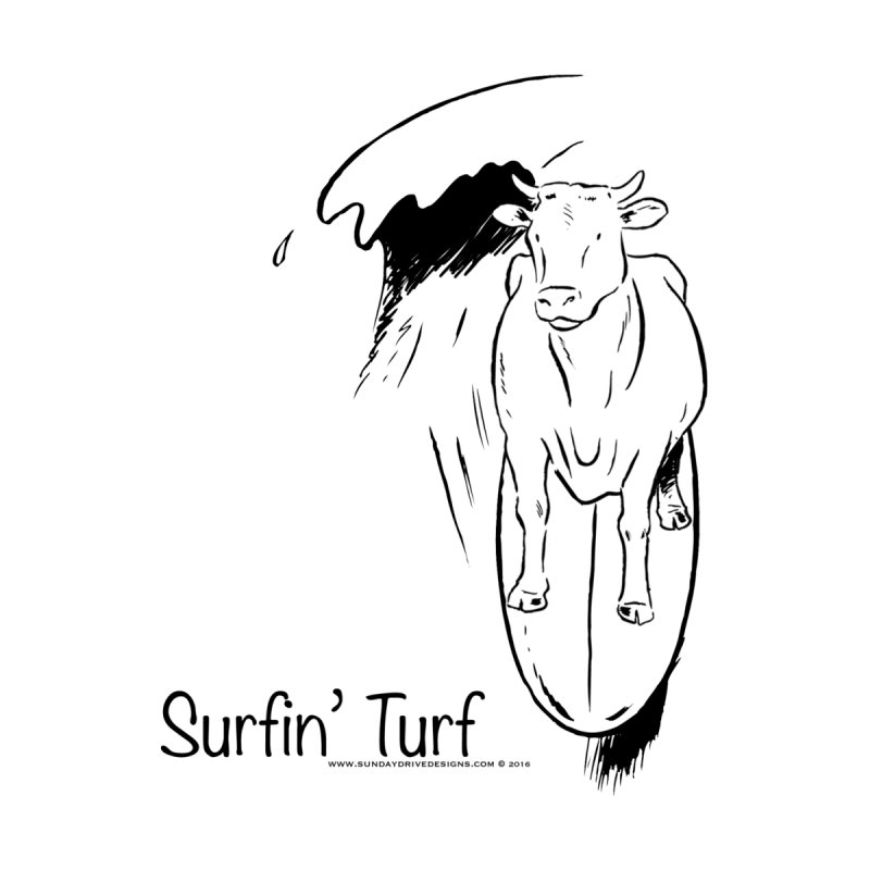 Surfin' Turf Women's V-Neck by sundaydrivedesigns's Artist Shop